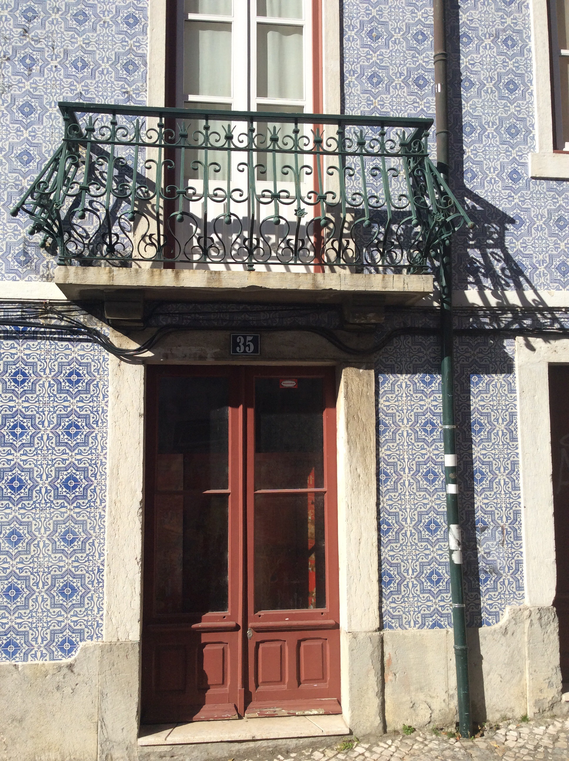 Love the tiles on many of the houses in Portugal. These were on our way back from the castle.