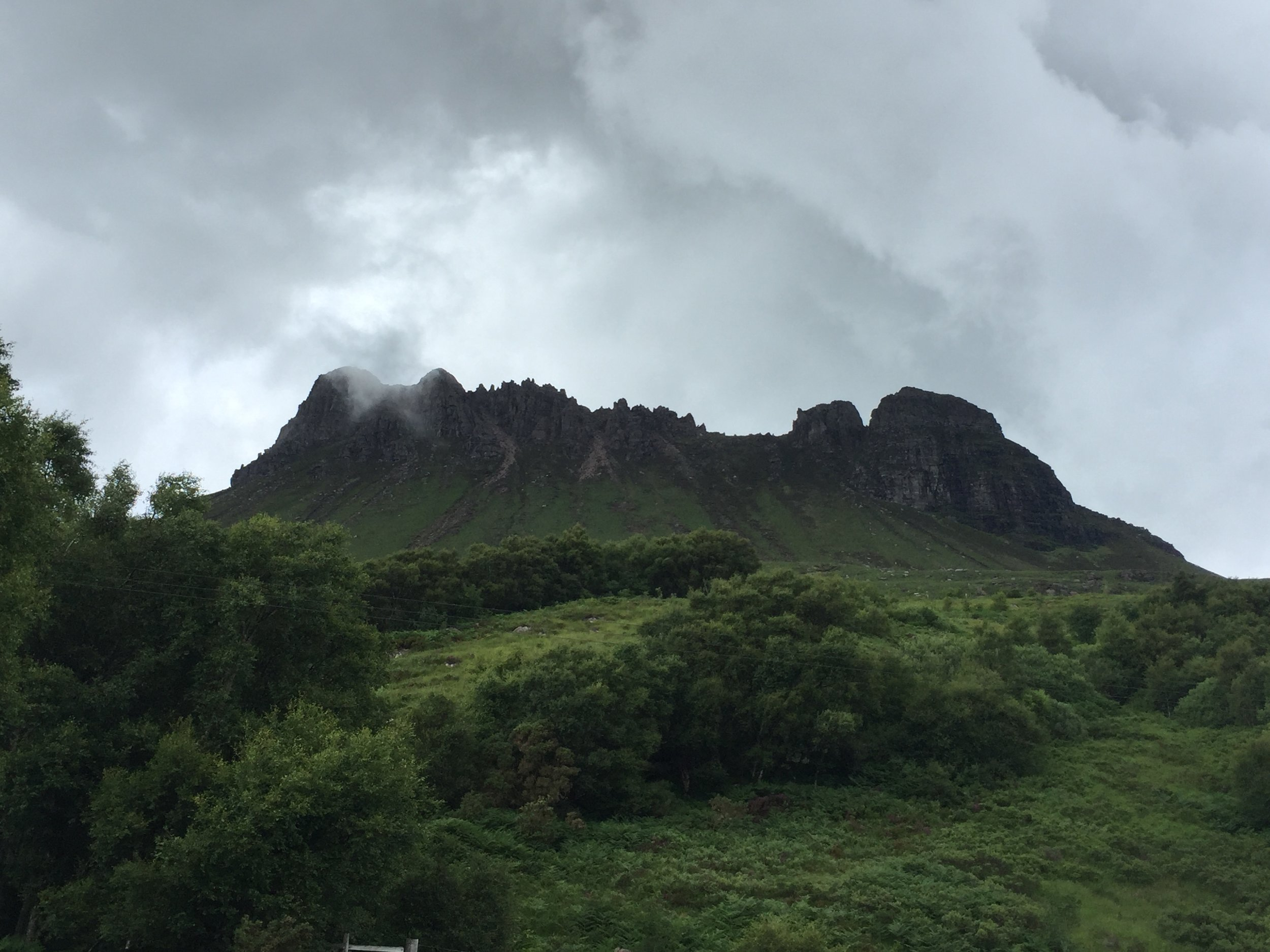 Stac Pollaidh from the road
