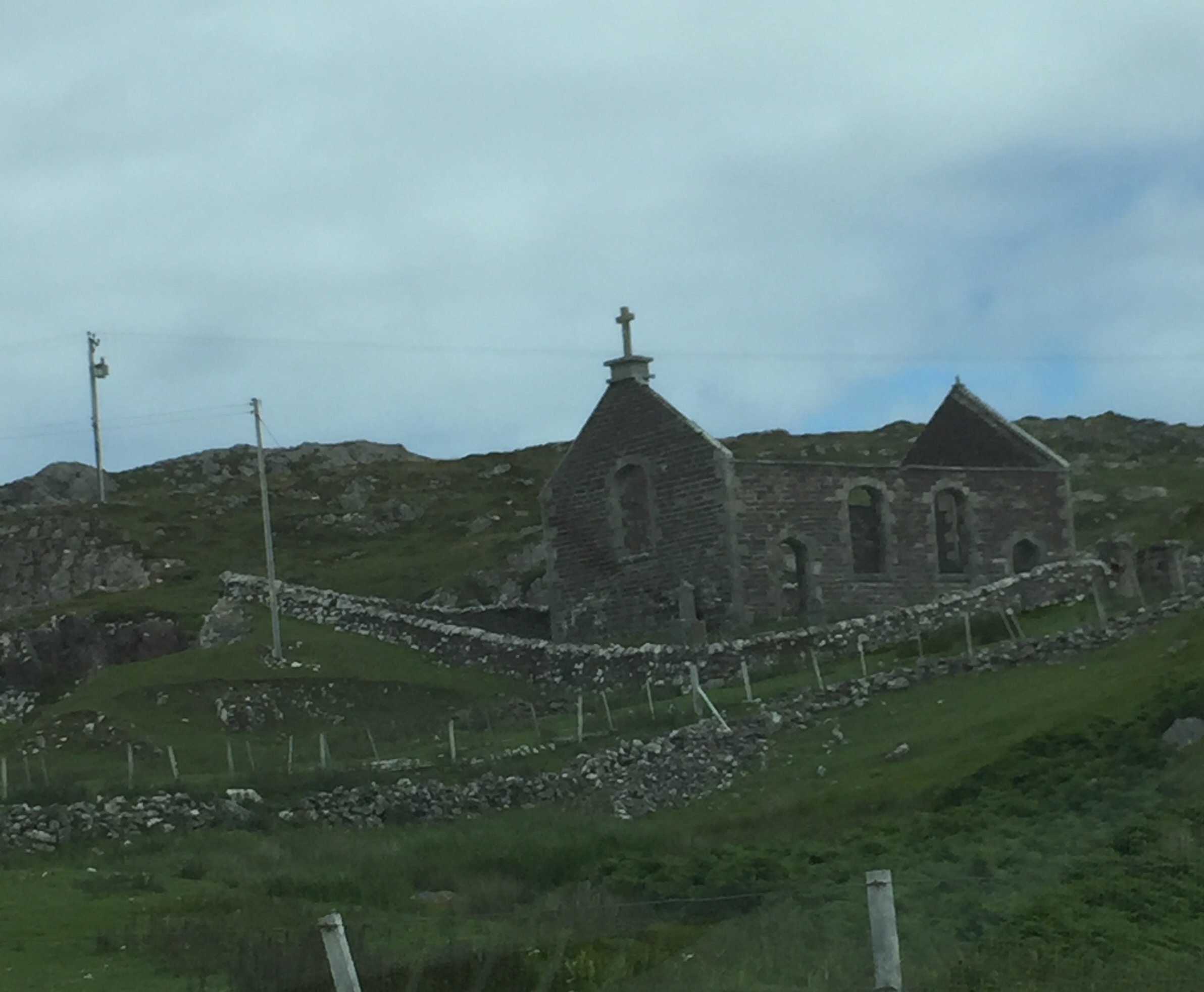 some ruins along the way in an area called Stoer