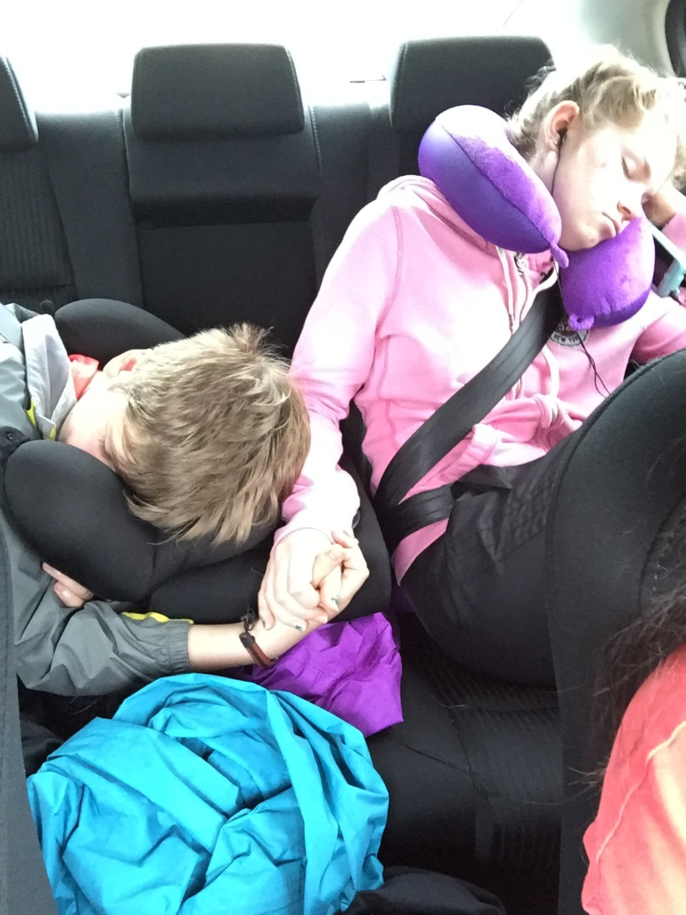 Guess the hot chocolate did not keep them up.