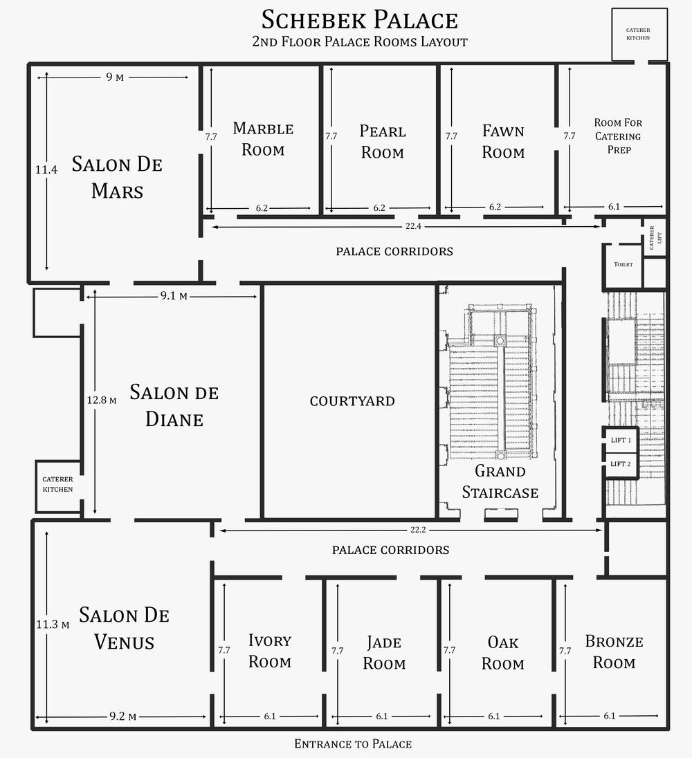Seating Arrangements Floor Plan The Schebek Palace