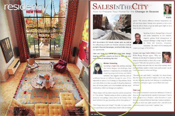 "featured in ""Sales In The City: Winter Greening"" by Kelly Kreth  Residency New York  Winter 2014"