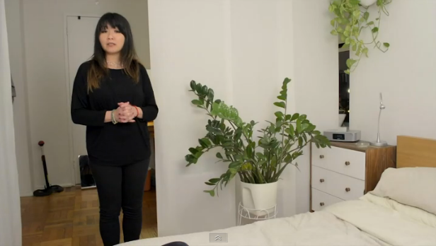 Separating the Area in a Studio Apartment By Using a Curtain