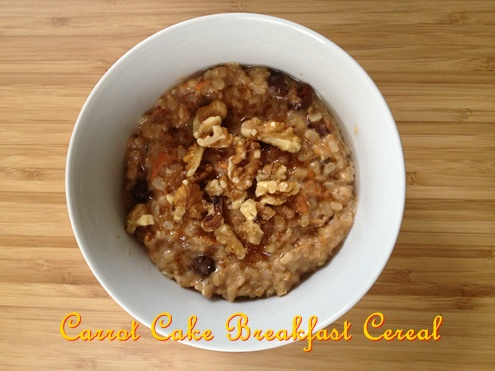 Carrot Cake Breakfast Cereal
