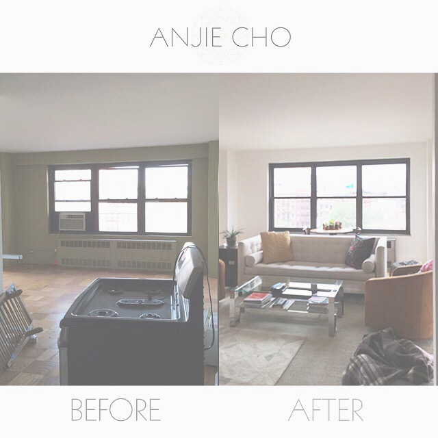 #beforeandafter  new paint flooring furniture windows!  #living   #home  #renovation