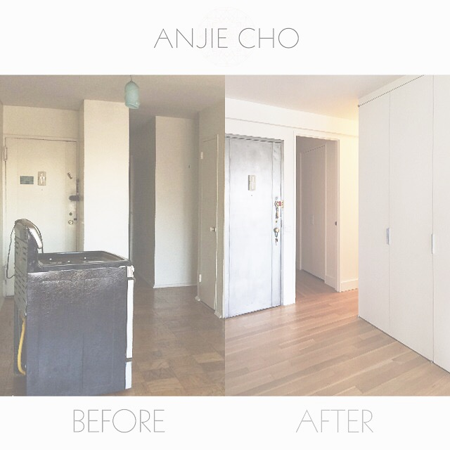 #beforeandafter  of a foyer. The foyer is impt. as it represents your face to the world  #fengshui   #interiors   #foyer
