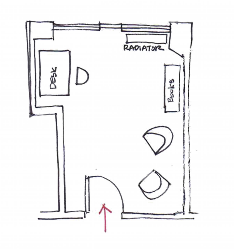Stephanie's Original Office Layout
