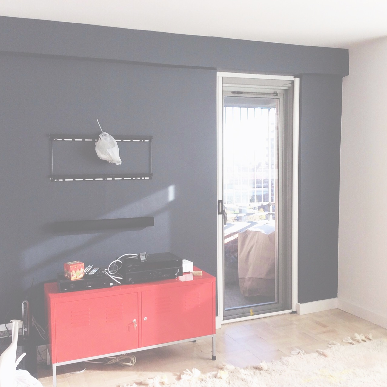 Client living room in progress   #repaint   #interiors   #inprogress