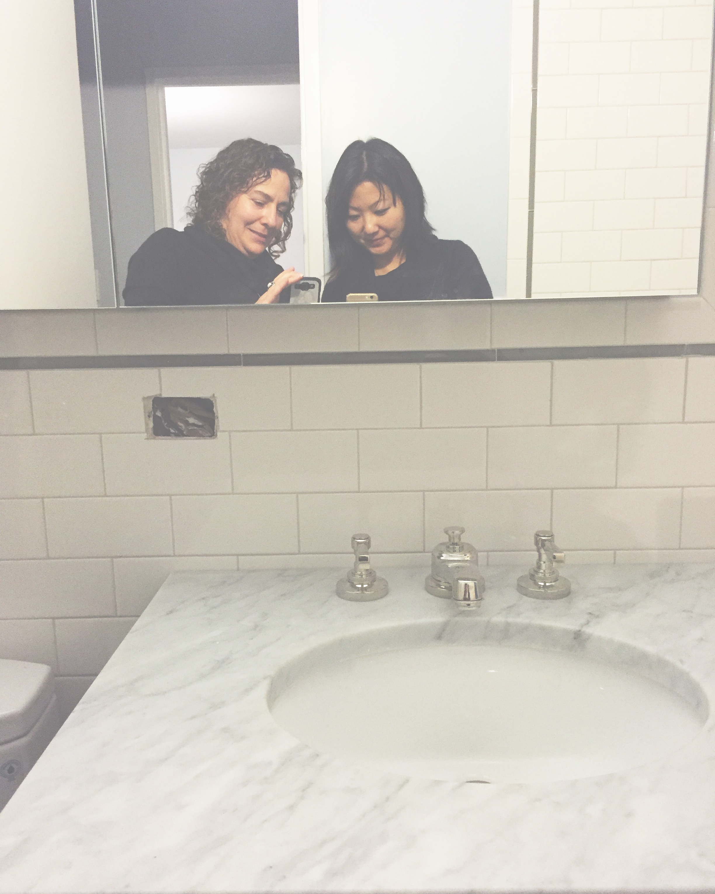 Checking out client's new bathroom! #lovemywork  #design