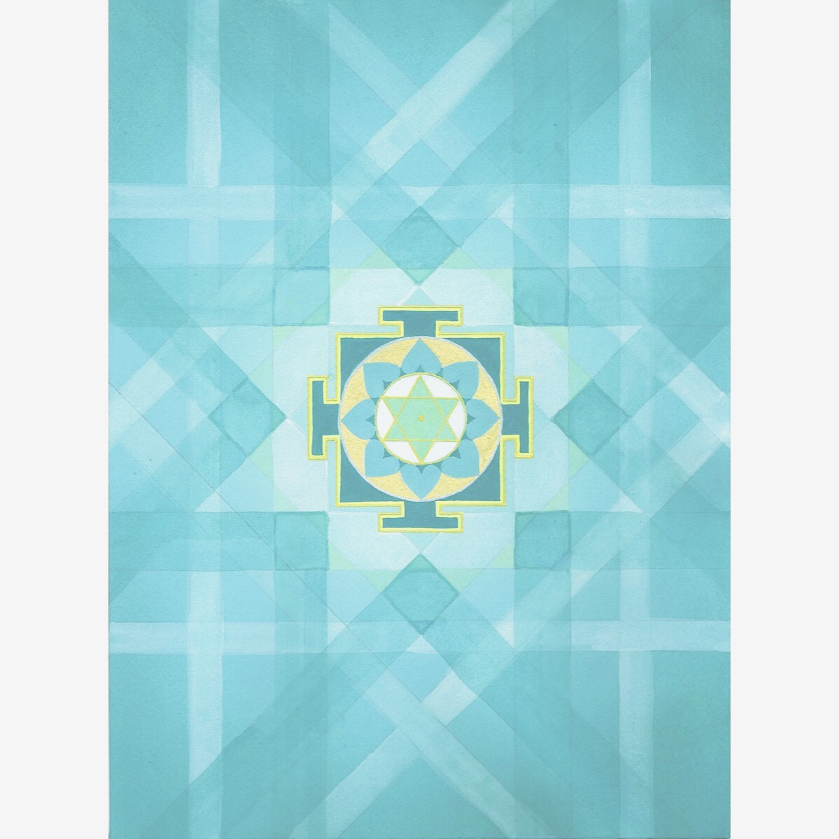 hello  #MantraMonday !! The  Mercury yantra  assists you in knowledge and creativity, with healing emerald and teal greens. The Vedic mandala background is based on the number five vedic square. The associated mantra : Om Bhum Bhudaye Namah Om  #mantra   #yantra   #mandala   #ganesha   #vedic   #holisticspaces