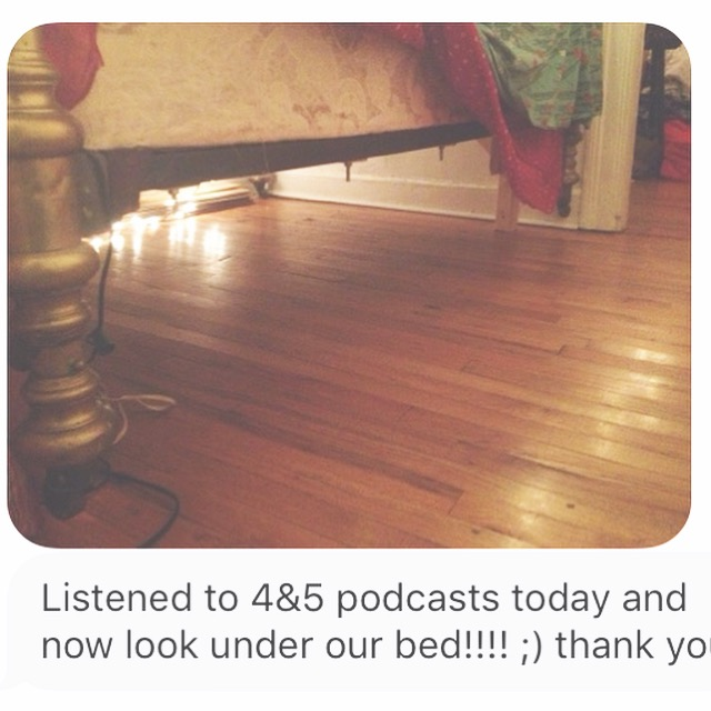 @stiggly  cleared out the qi under her bed after listening to my  #fengshui   podcast!  👍🏼
