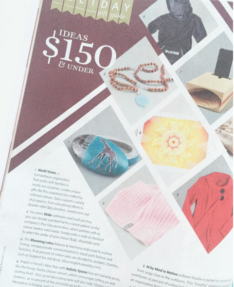 Our mandalas are featured in  @yogajournal 's  #holidaygiftguide2015   #giftsthatgiveback   #mandalas   #holisticspaces