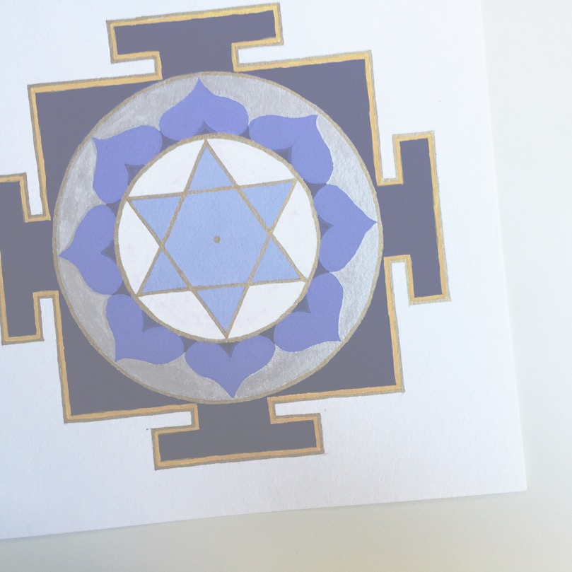 #mantraMonday ! the  Saturn yantra  today. Saturn is a planet that is associated with discipline, protection and increases success.  The associated mantra is: Om Shum Shanaishcharaye Namah Om   #mantra   #yantra   #vedicnumbers   #sacredart   #sacredgeometry     #holisticspaces   #saturn   #theplanets