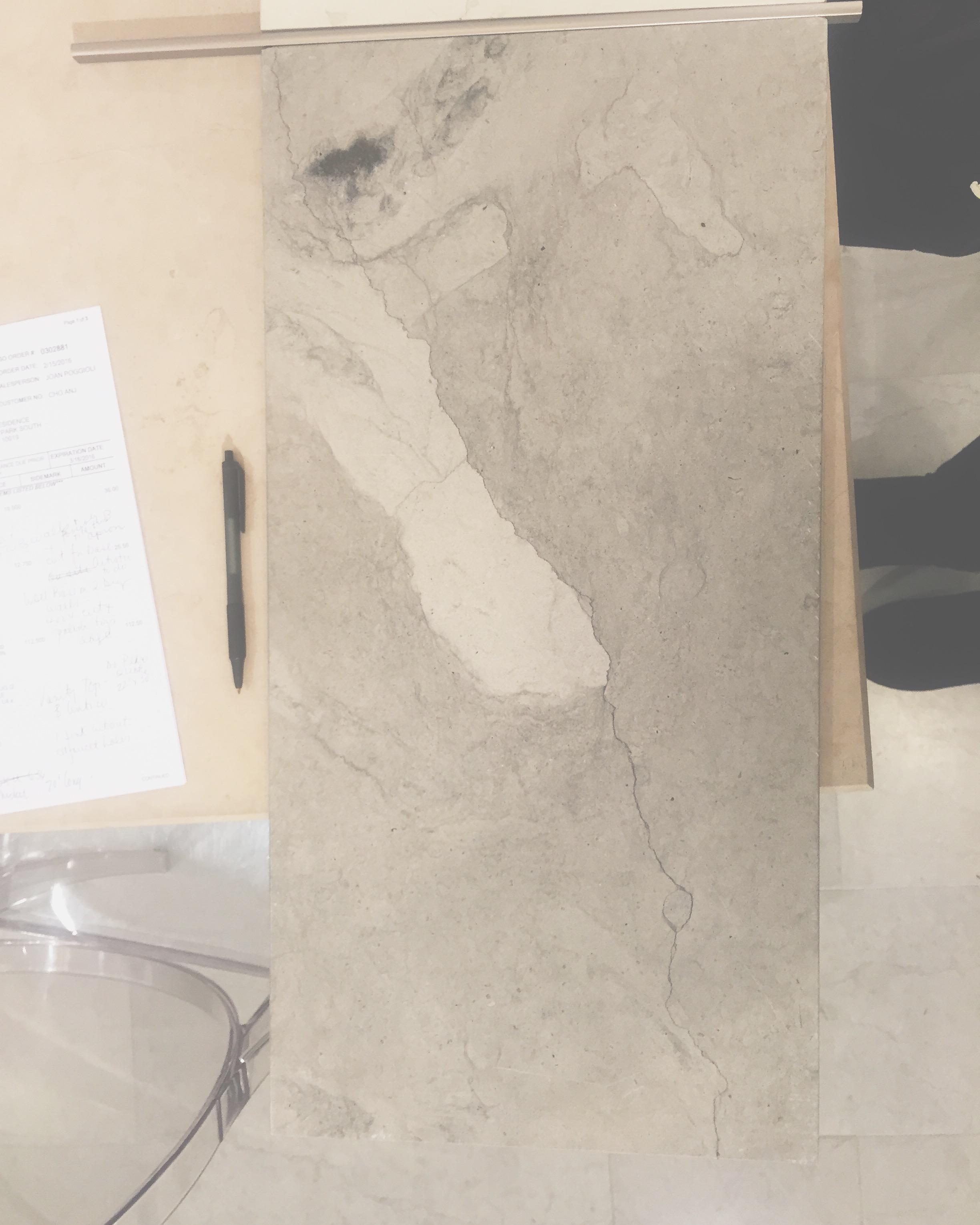 Planning out a serene bathroom  #limestone  #smoke  #artistictile