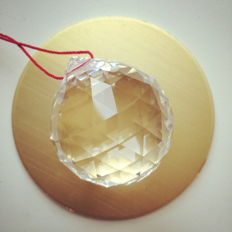 feng shui faceted crystal ball