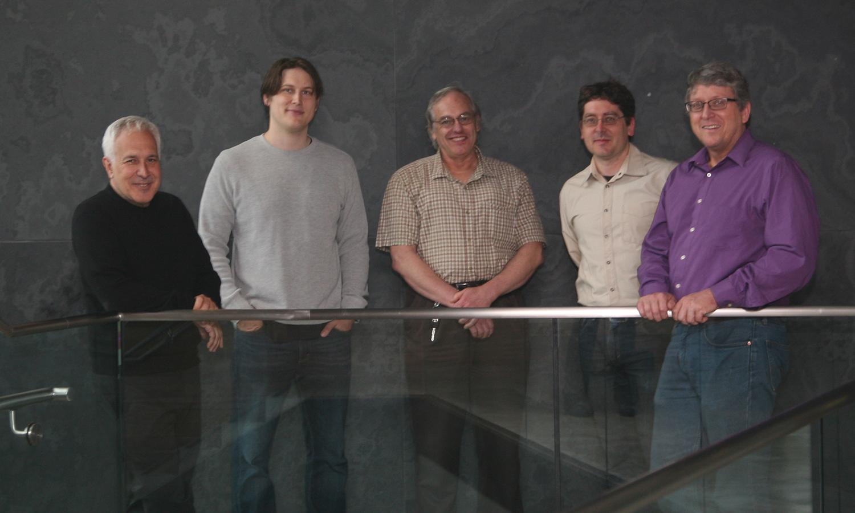 Jeff Lichtman, Josh Morgan, Jose Conchello, Daniel Berger, and Richard Schalek (Courtesy Department of Molecular and Cellular Biology)