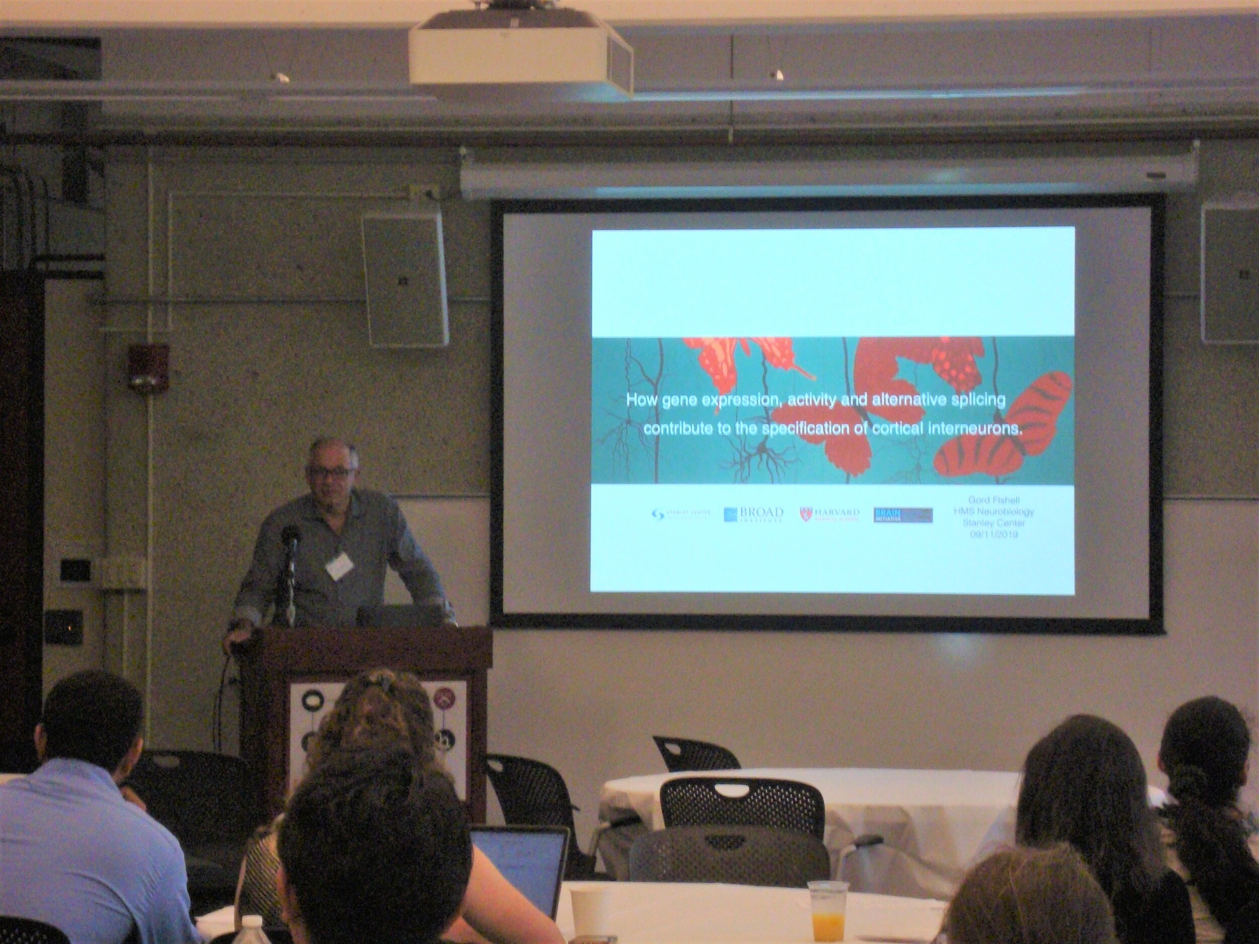 Dr. Gord Fishell presents at the Conte 2019 Retreat