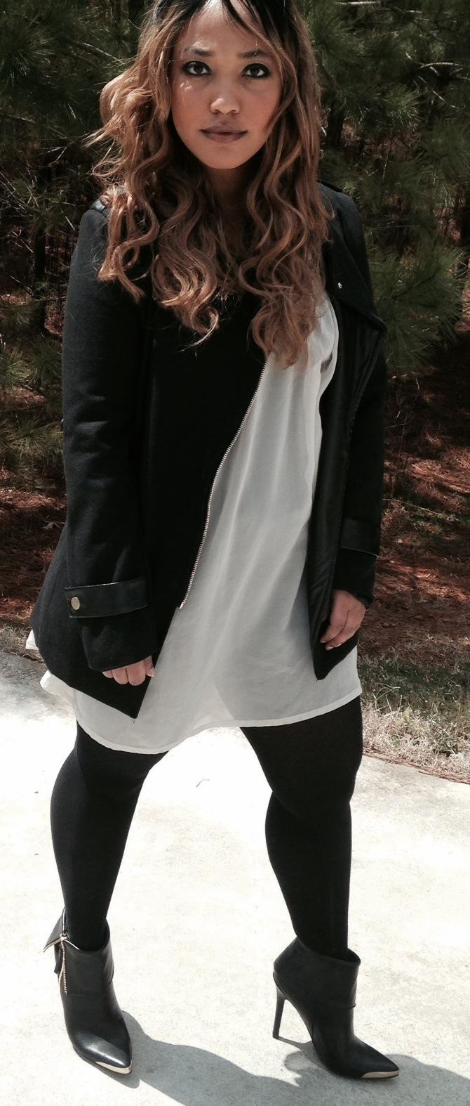 candy washington_black leather jacket