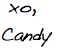 candy washington signature