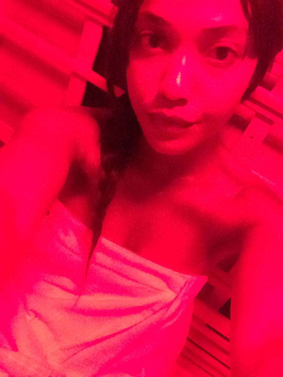 Hanging in the Infrared Sauna