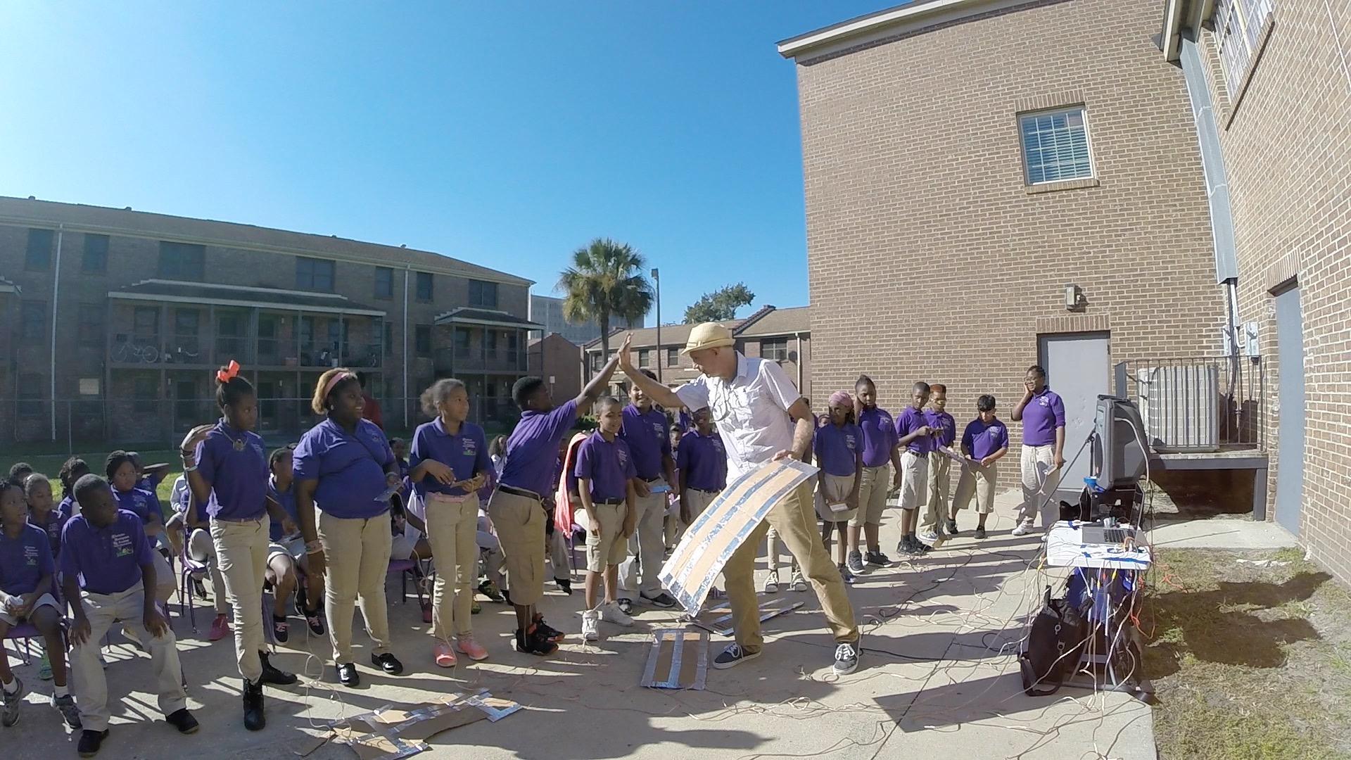 STEAM-MaKey MaKey workshop with Charleston Development Academy students, Charleston,SC.