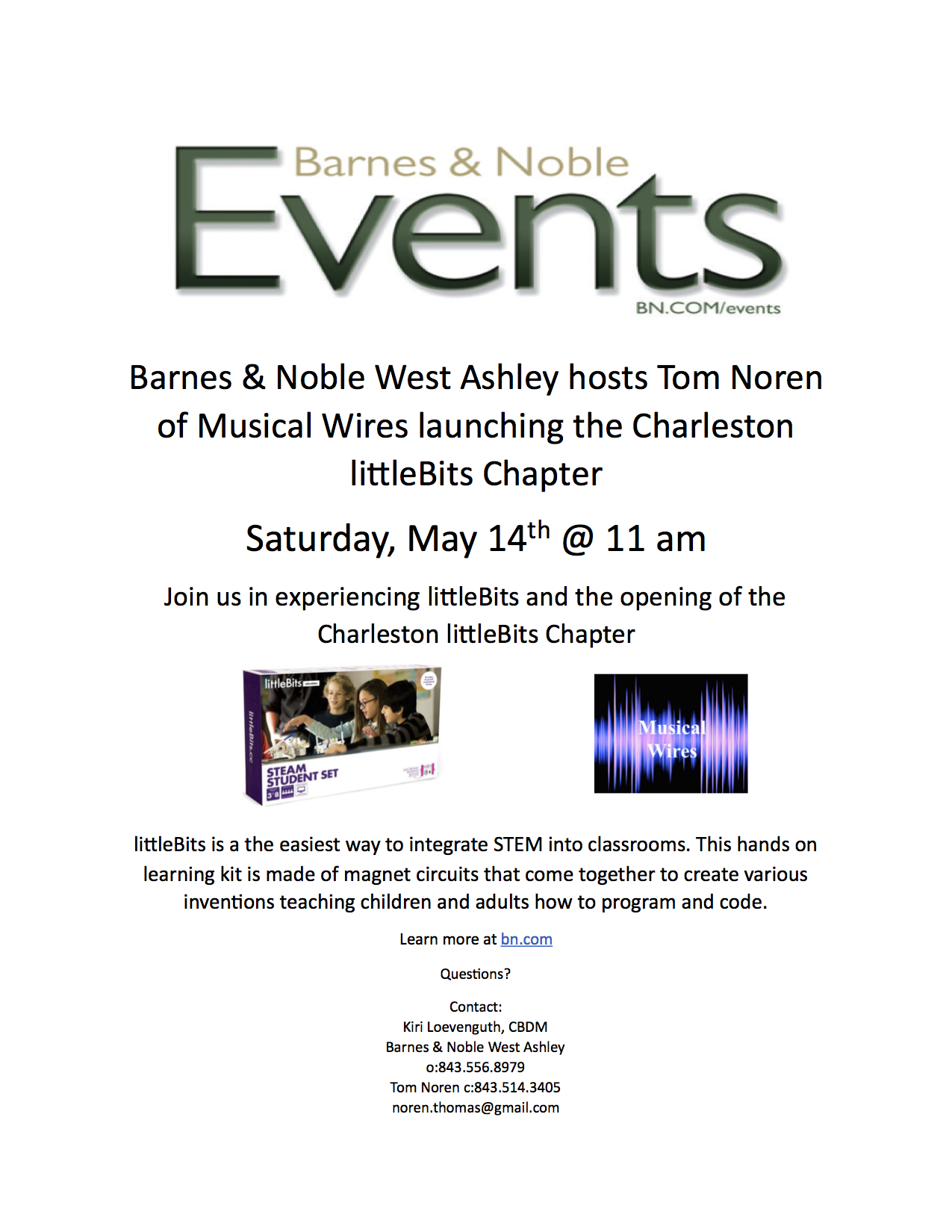 LittleBits Charleston Chapter Event, Come and Join Us!