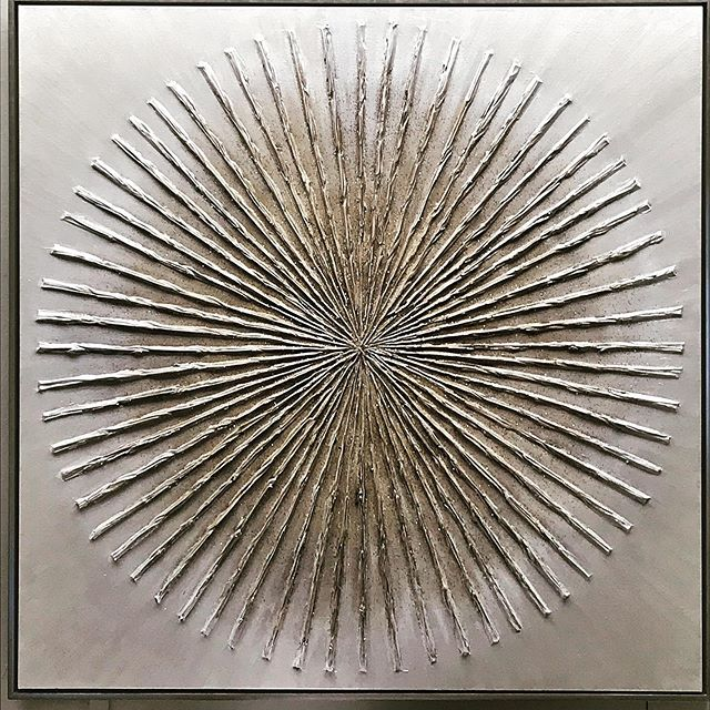 "All that glitters is not gold but mesmerizing, nonetheless, like this statement making 56"" x 56"" sculptural wall piece available at Gormans #contemporaryart #wallart #interiordesign"
