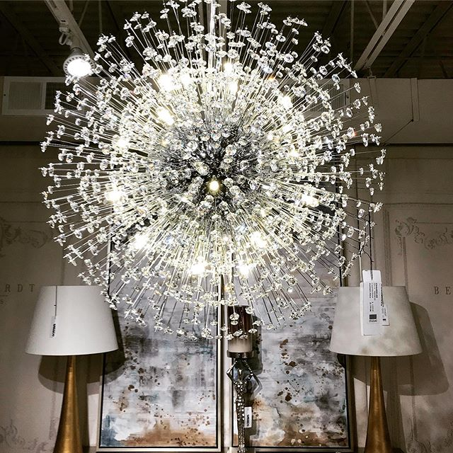 A dandelion that will never blow away.  #chandelier #contemporarydesign #modernlighting