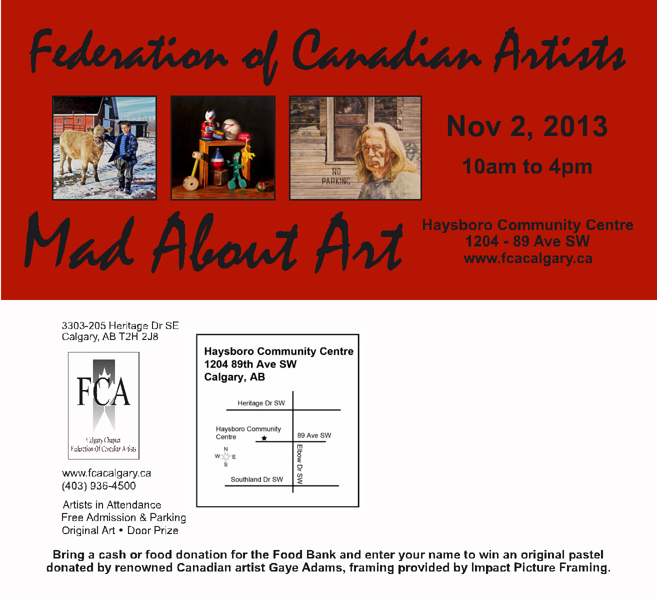 Visit this group art show of many of Albera's finest artists, this weekend!     — with   Federation Canadian Artists  .