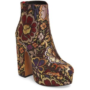 Shellys London Chanah Embroidered Platform Bootie