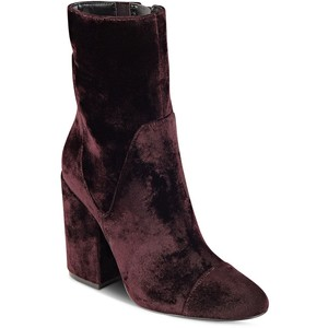 KENDALL and KYLIE Brooke Velvet Block Heel Booties