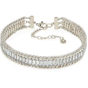 Lydell NYC Crystal & Rhinestone Choker Necklace