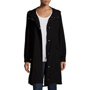 Eileen Fisher Hooded Long Anorak Jacket