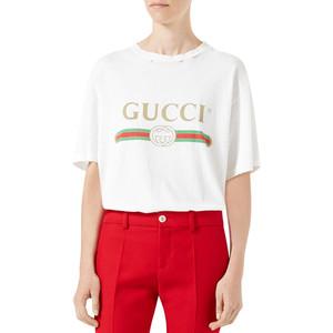 Gucci-Print Cotton Tee