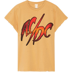 MADEWORN AC/DC distressed printed cotton-jersey T-shirt