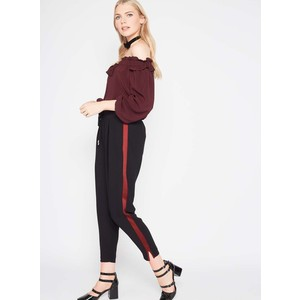 Miss Selfridge Black Side Striped Joggers