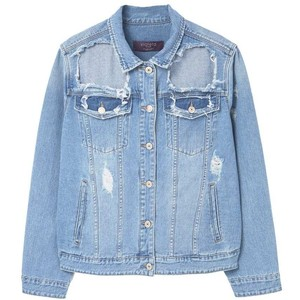 MANGO Decorative rips denim jacket