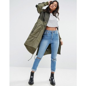 ASOS Parka With Mesh Layer and Sleeve Detail