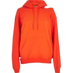 River Island Orange cut out hoodie