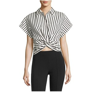 T by Alexander Wang T By Twisted Front Striped Shirt