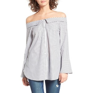 Stripe Off the Shoulder Top LUSH