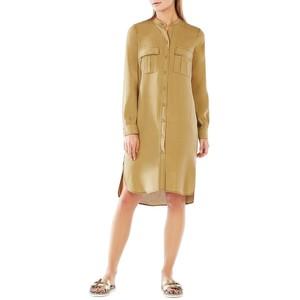 BCBGMAXAZRIA Maddox Button-Up Silk Shirtdress
