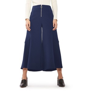 Meg Zip Frill Palazzo Trousers TOPSHOP