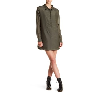 One Teaspoon Island Luxe Silk Blend Shirt Dress