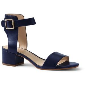 Lands' End Women's Heeled Ankle Strap Sandals