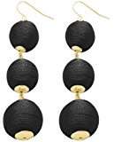 Women's Triple Thread Lantern Ball Dangle Fashion Earrings