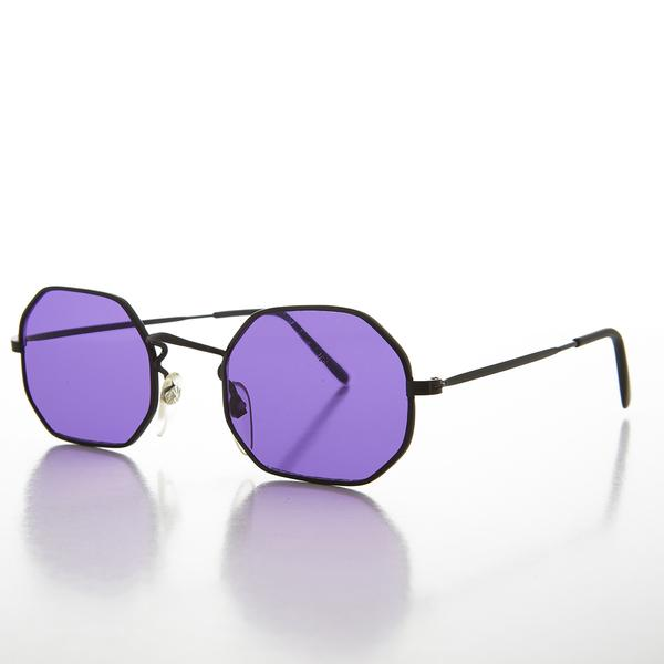 Color Tinted Octagon Shaped Vintage 90s Sunglass