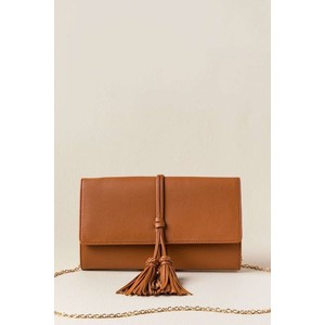 CALLA DOUBLE TASSEL CROSSBODY CLUTCH