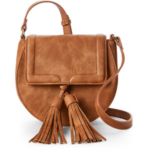 URBAN EXPRESSIONS Tan Karma Tasseled Crossbody