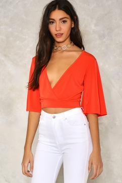 Take Wing Wrap Top